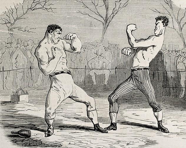 вторых, бой боксеров рисунок родом армении