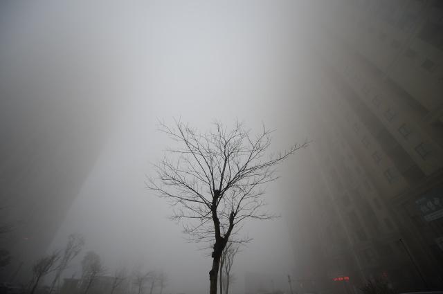 Смог в городе Цзинань, Китай. Фото: Reuters