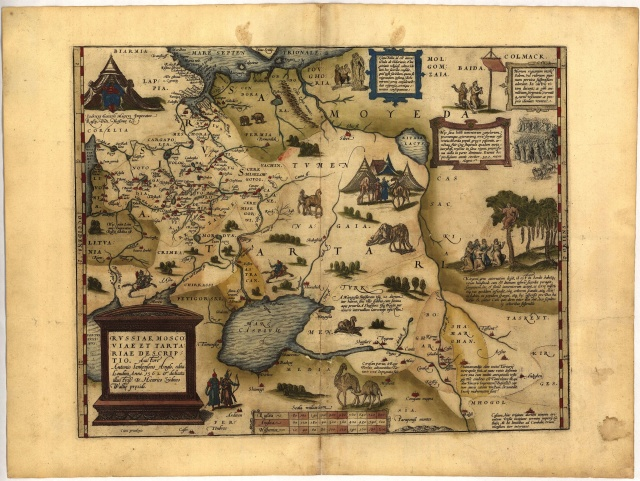 Карта из атласа Ортелиуса. 1570 год.