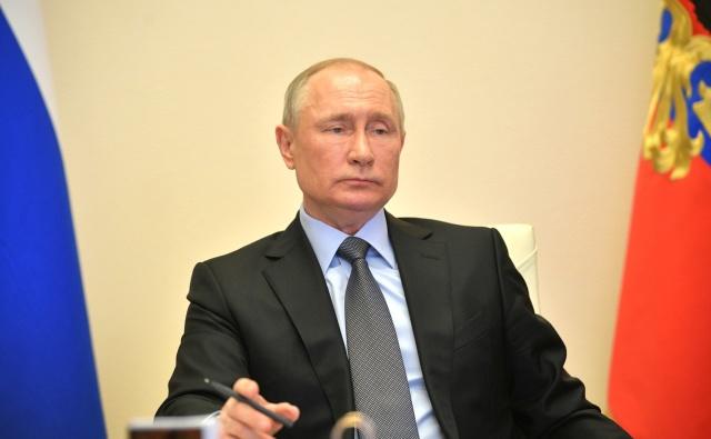 Владимир Путин, совещание о санитарно-эпидемиологической обстановке в России, 13 апреля 2020 года. Фото: Kremlin.ru
