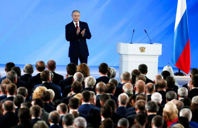 Послание Федеральному собранию. Фото: Alexander Zemlianichenko / Reuters