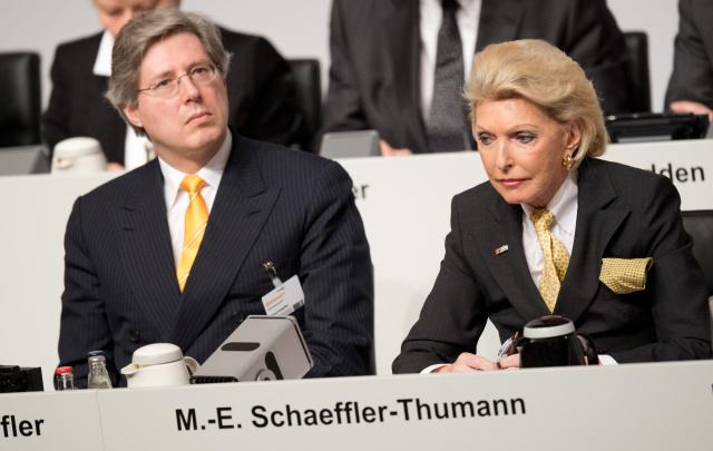 Георг Шеффлер и  Мария-Элизабет Шеффлер-Туман. Фото: Julian Stratenschulte / DPA / TASS
