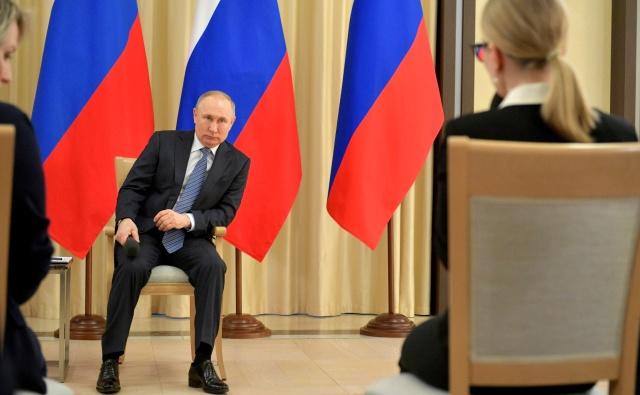 Владимир Путин на встрече с предпринимателями, 26 марта 2020 года. Фото: Kremlin.ru