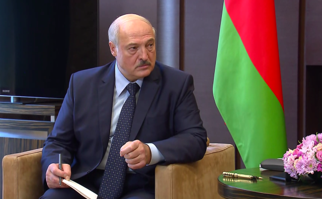 Александр Лукашенко на переговорах с Владимиром Путиным в Сочи, 14 сентября 2020 года. Фото: Kremlin.ru
