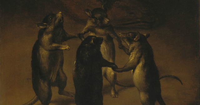 Танец крыс. Фердинанд ван Кессель (1648 – 1696).