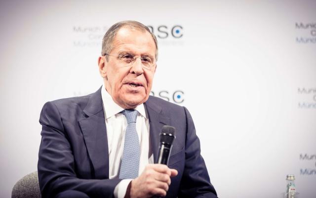Сергей Лавров на  Мюнхенской конференции по безопасности. Фото: Munich Security Conference