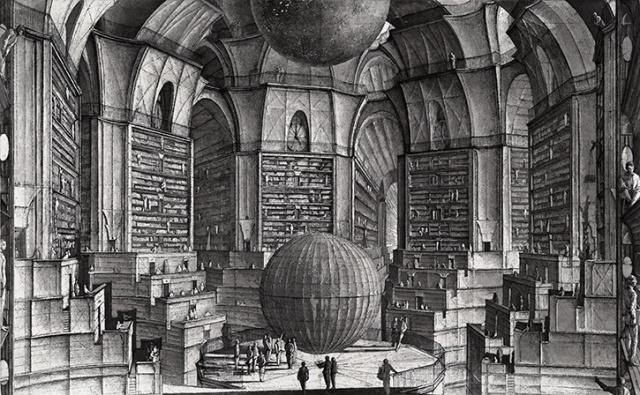 Вавилонская библиотека. Иллюстрация: Erik Desmazieres / Wikipedia.org