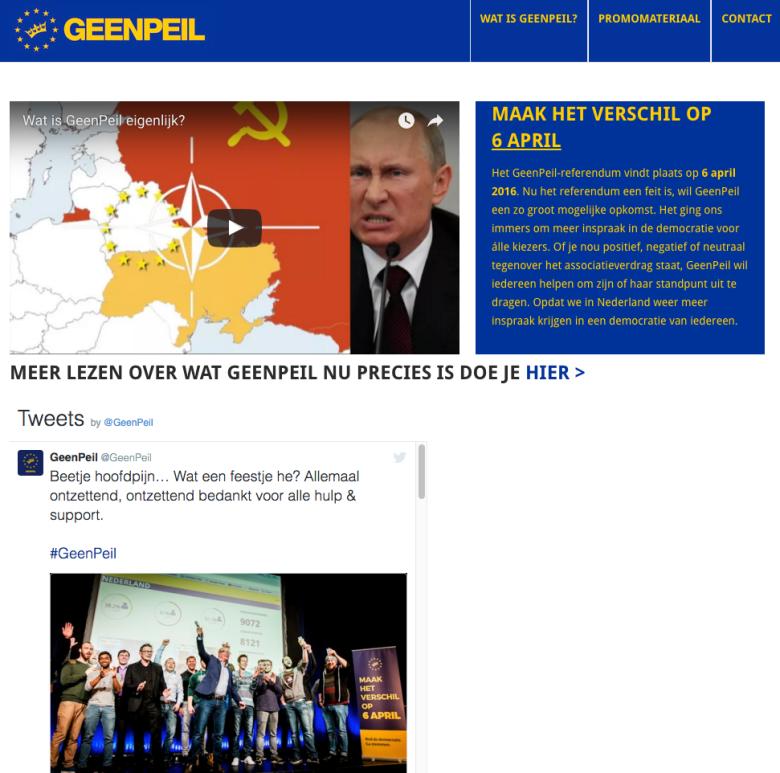 Объявлены предварительные результаты референдума вГолландии поУкраине