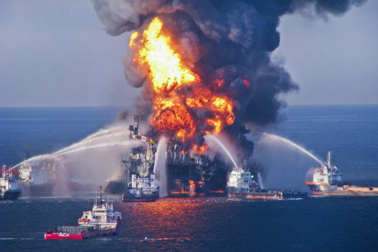 Пожар на нефтяной платформе Deepwater Horizon в Мексиканском заливе, 2010