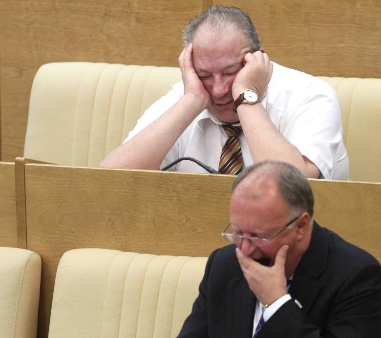 Картинка депутат спит на заседании