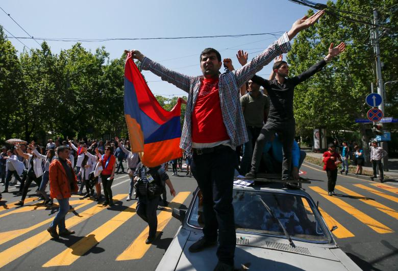 Оппозиционеры собрались вцентре Еревана