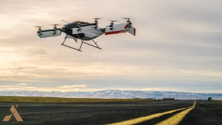 Представлено видео первого полета беспилотного такси Alpha One