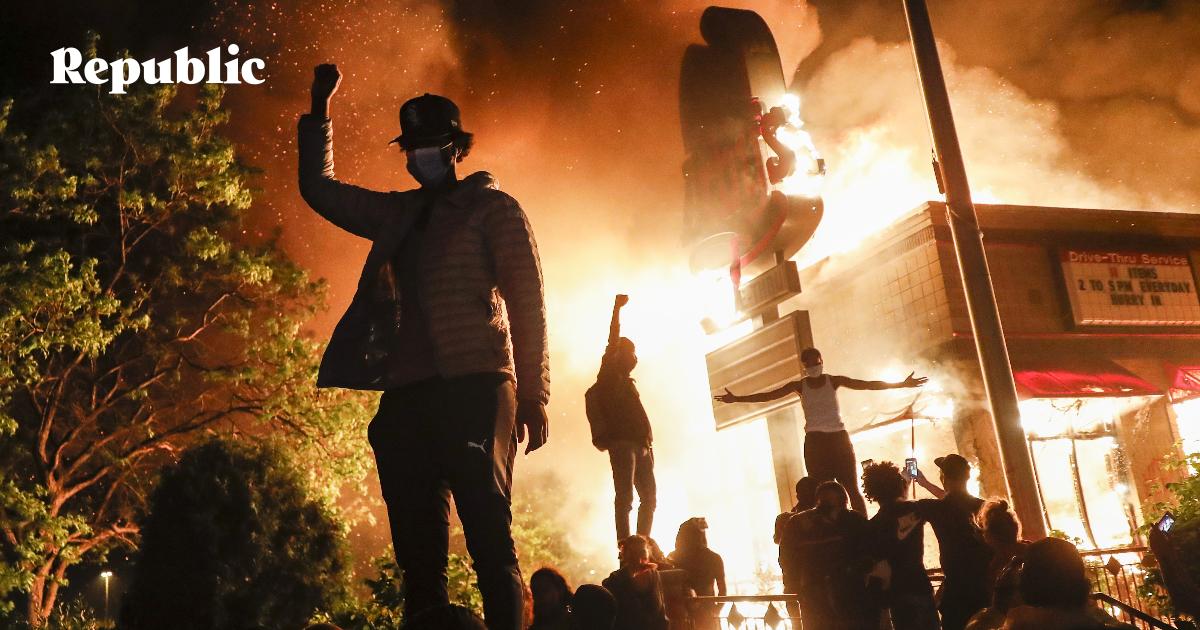 Демонстрации со взломом. Америка вспоминает времена Мартина Лютера Кинга
